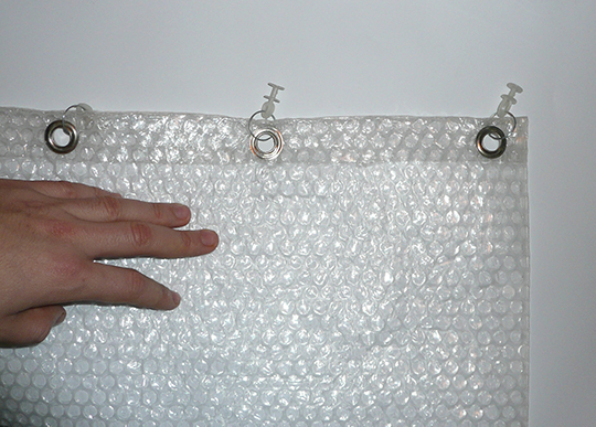 Bubble Wrap Curtain
